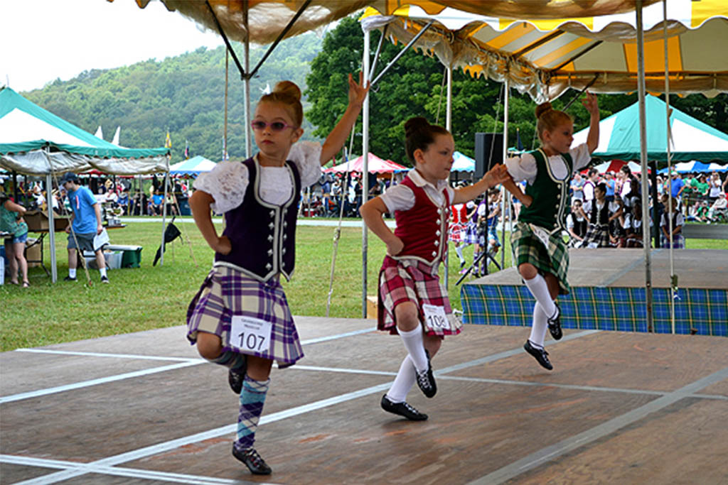 Grandfather Mountain Highland Games dancing