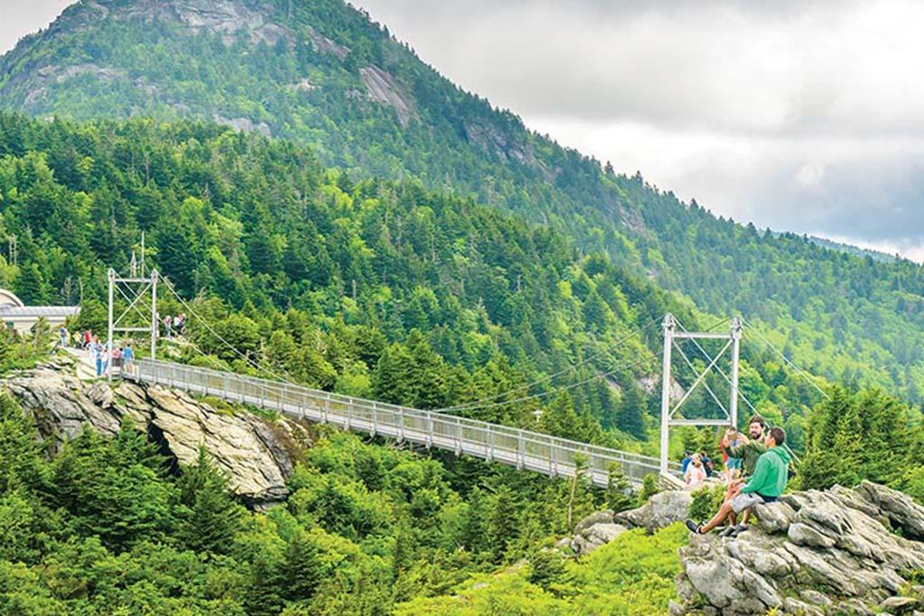 Mile High Swinging Bridge in Grandfather Mountain