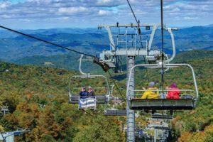 beech mountain views from ski lift