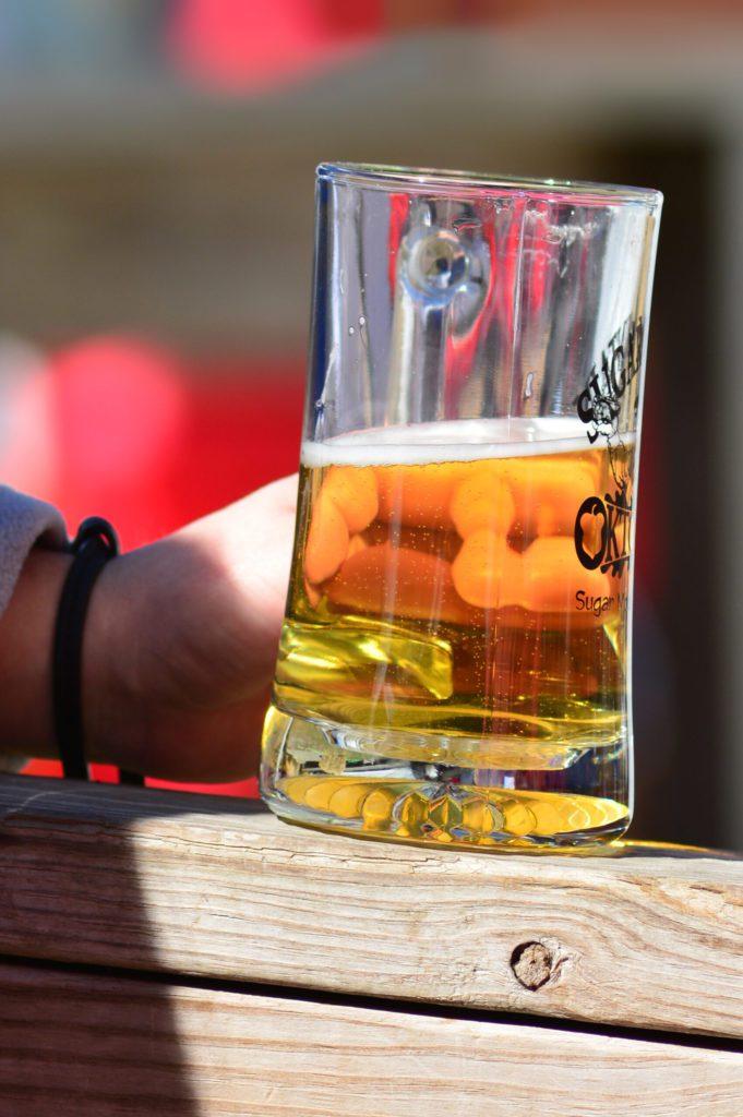beer in hand